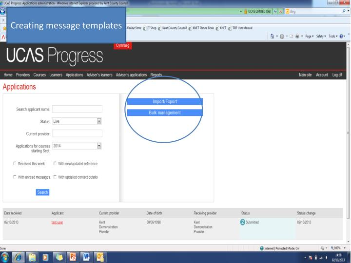 Creating message templates