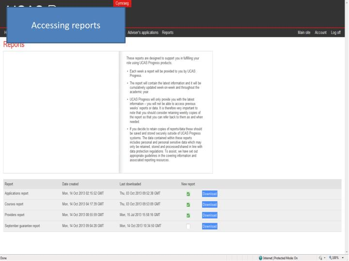 Accessing reports