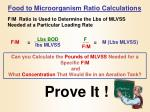 food to microorganism ratio calculations1