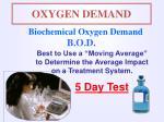 oxygen demand1
