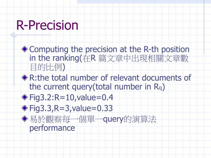 R-Precision