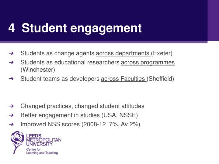 4  Student engagement