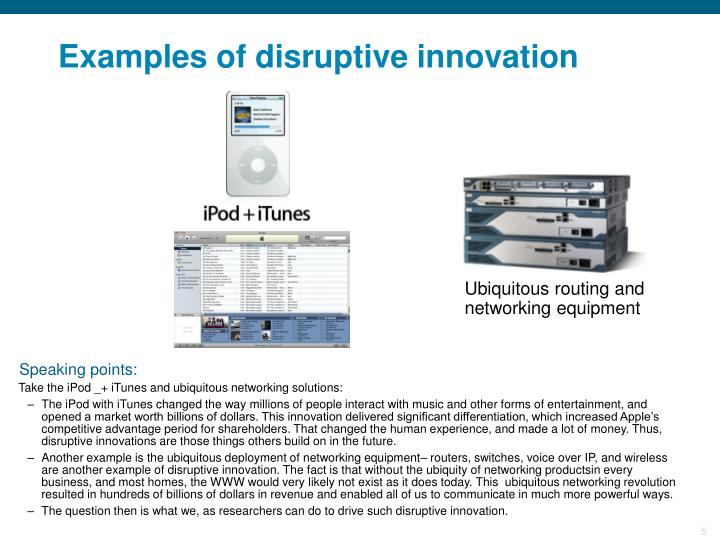 Examples of disruptive innovation