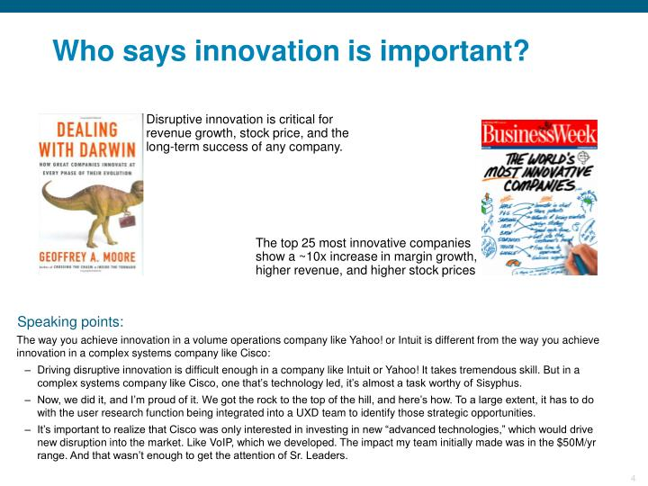 Who says innovation is important?