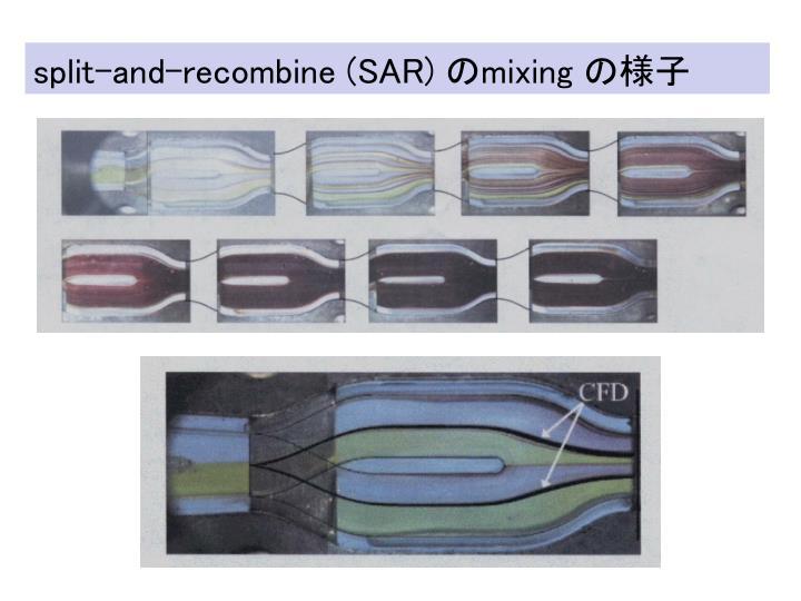Split-and-recombine (SAR)