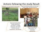 actions following the study result