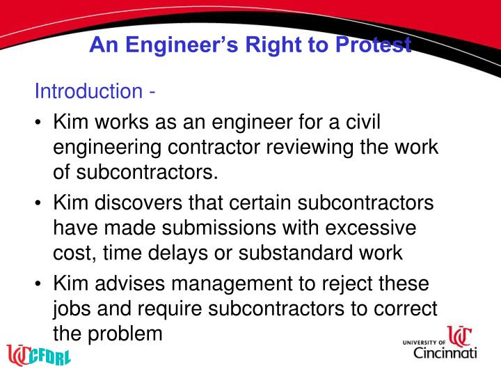 An Engineer's Right to Protest