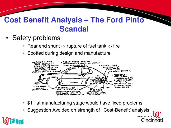 Cost Benefit Analysis – The Ford Pinto Scandal