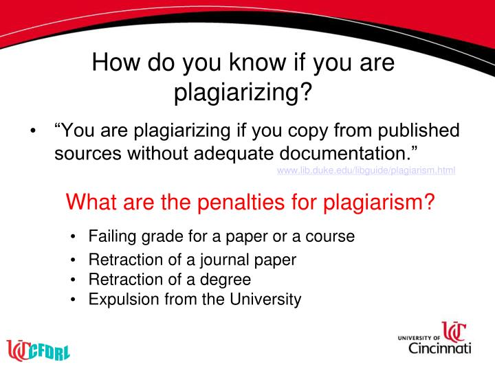 How do you know if you are plagiarizing?