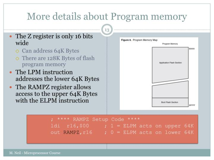 More details about Program memory