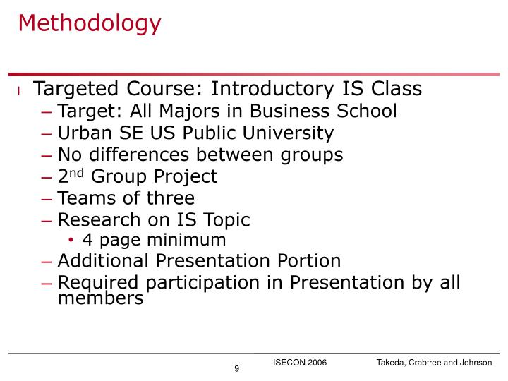 Targeted Course: Introductory IS Class