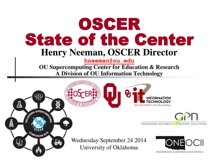 oscer state of the center n.