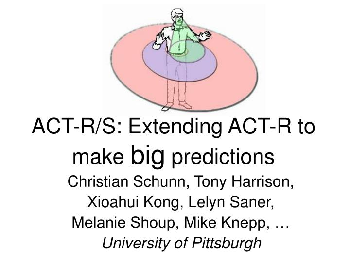 act r s extending act r to make big predictions n.