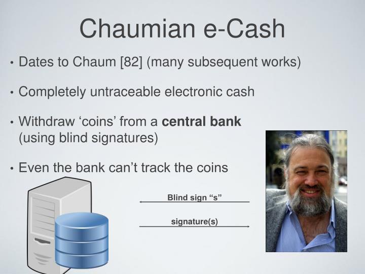 Chaumian e-Cash