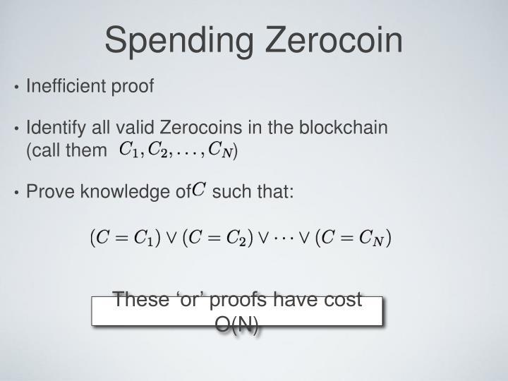 Spending Zerocoin