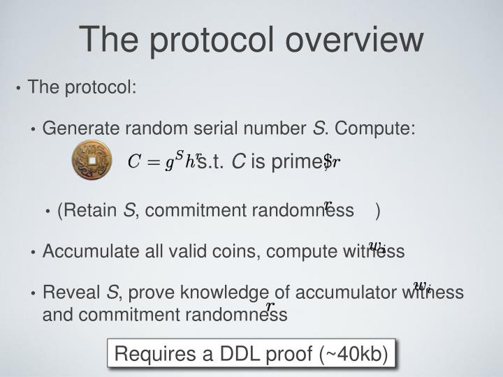 The protocol overview