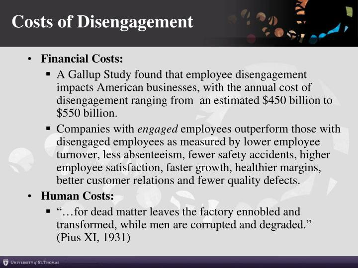 Costs of Disengagement