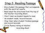 step 2 reading passage