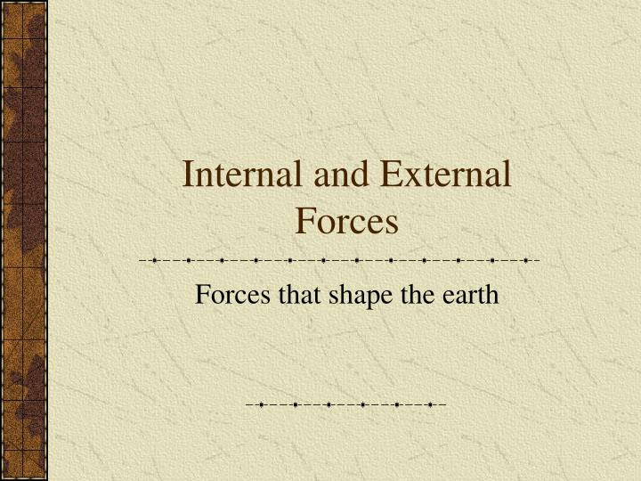internal and external forces n.