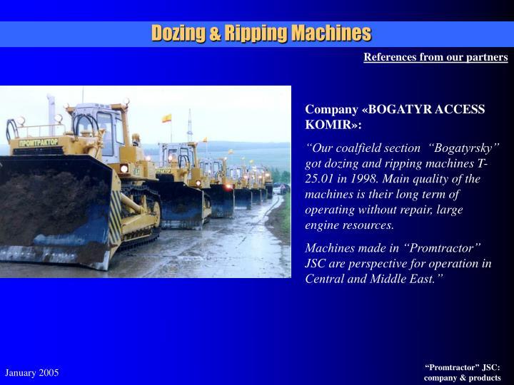 Dozing & Ripping Machines
