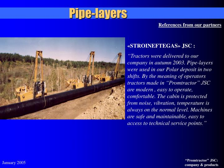 Pipe-layers