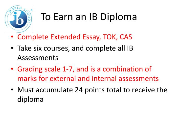 to earn an ib diploma n.