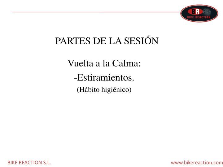 PARTES DE LA SESIÓN