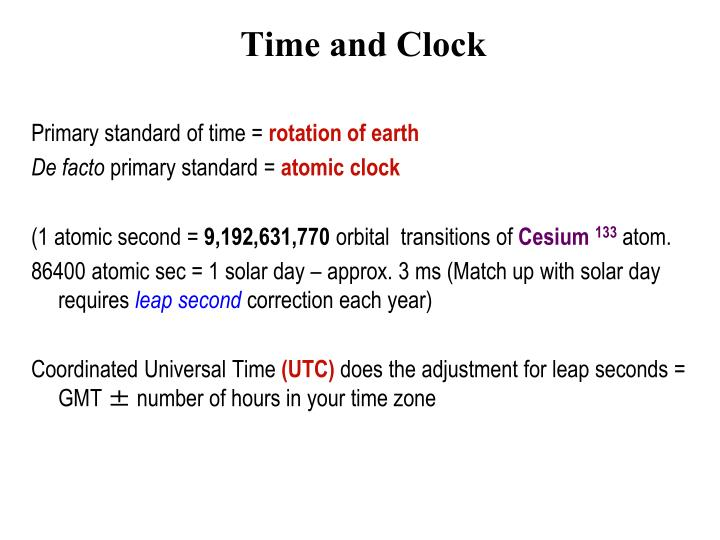 time and clock n.