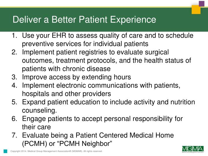 Deliver a Better Patient Experience