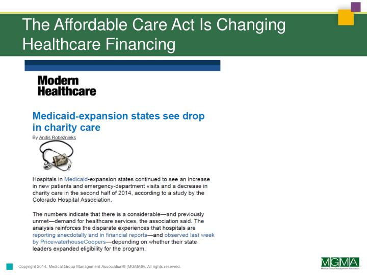The Affordable Care Act Is Changing