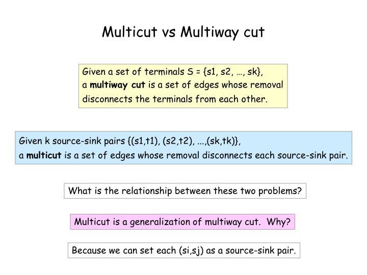 Multicut vs Multiway cut