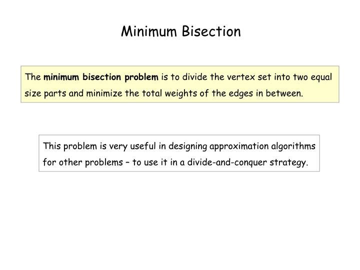 Minimum Bisection