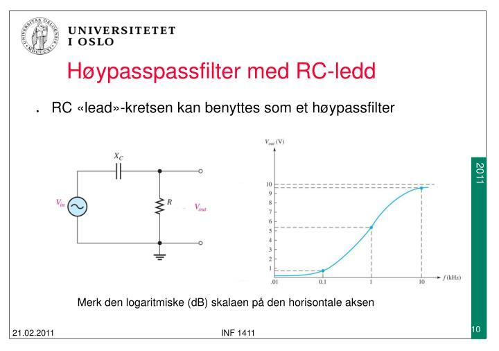 Høypasspassfilter med RC-ledd