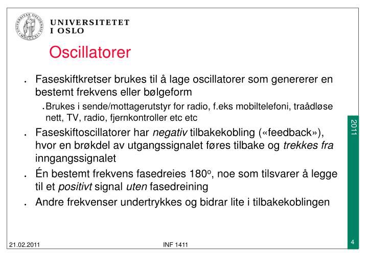 Oscillatorer