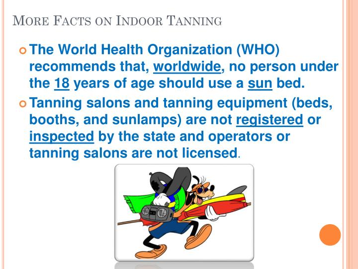 More Facts on Indoor Tanning