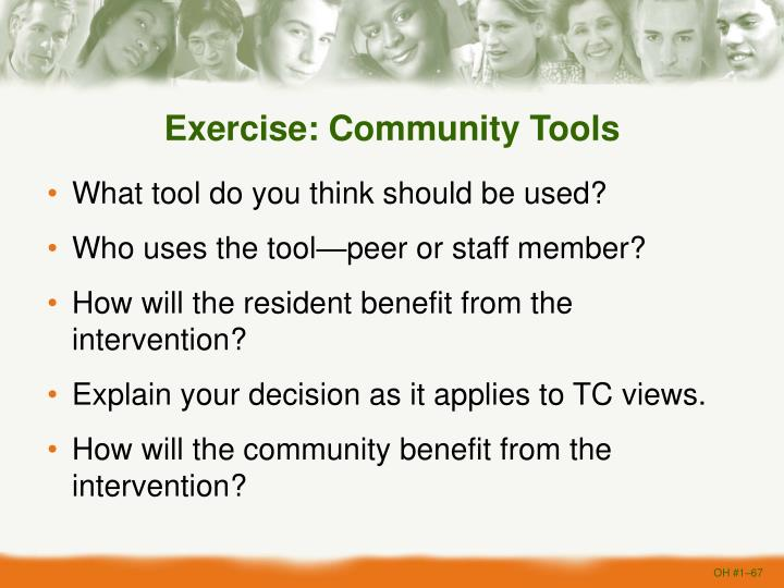 Exercise: Community Tools