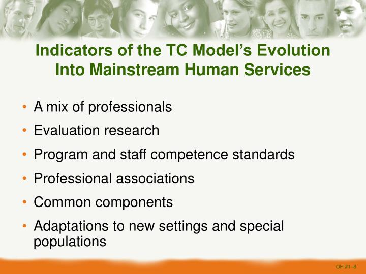 Indicators of the TC Model's Evolution Into Mainstream Human Services