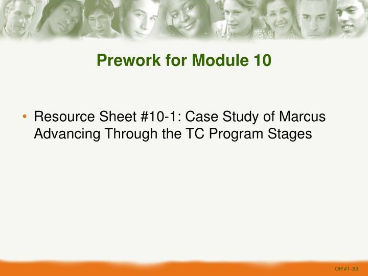Prework for Module 10
