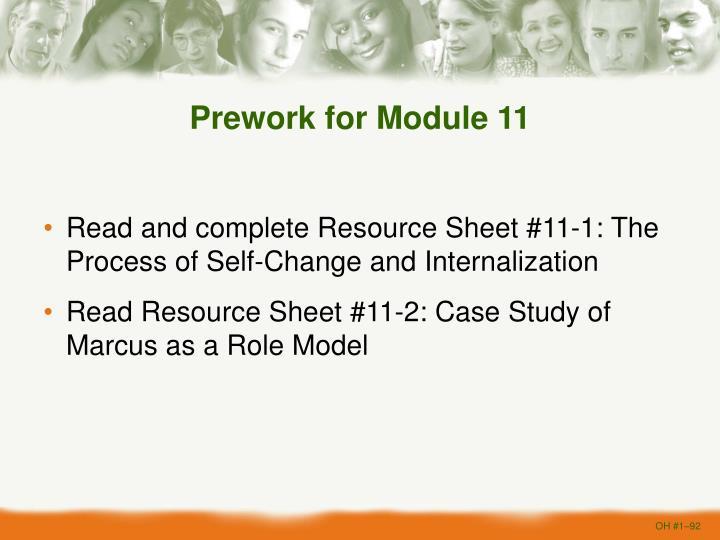 Prework for Module 11