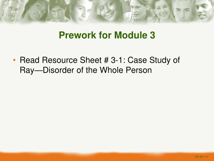 Prework for Module 3