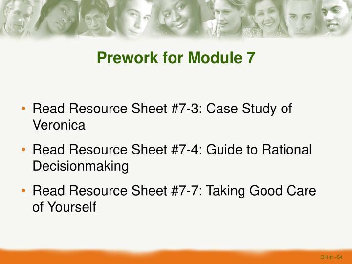 Prework for Module 7