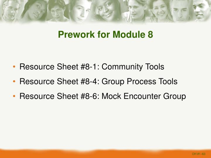 Prework for Module 8