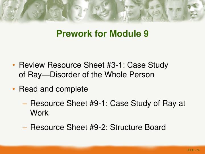 Prework for Module 9