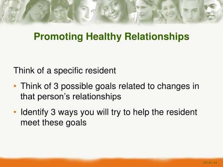 Promoting Healthy Relationships