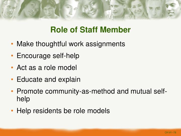 Role of Staff Member