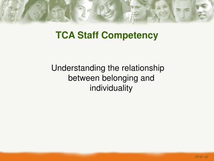 TCA Staff Competency