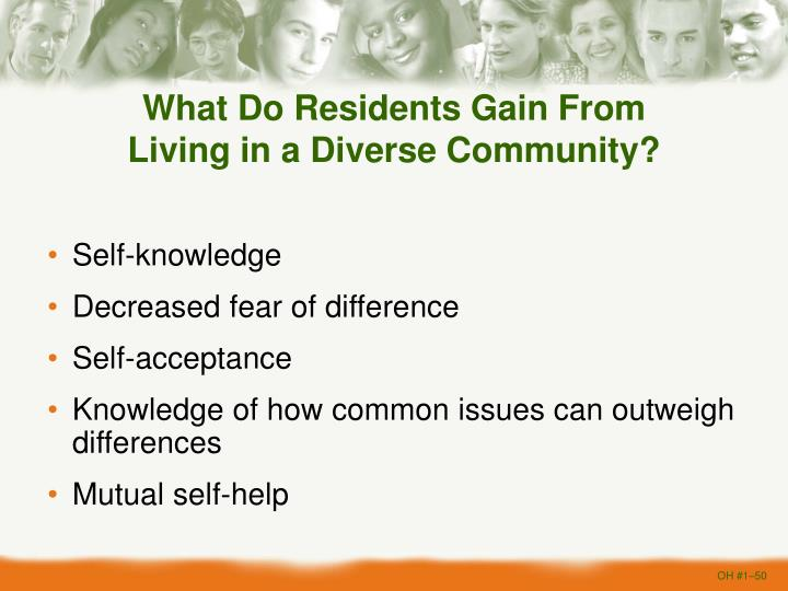 What Do Residents Gain From