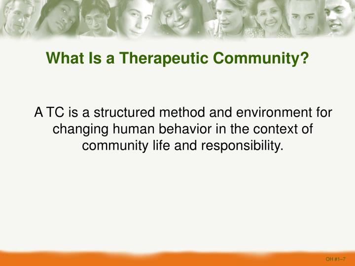 What Is a Therapeutic Community?