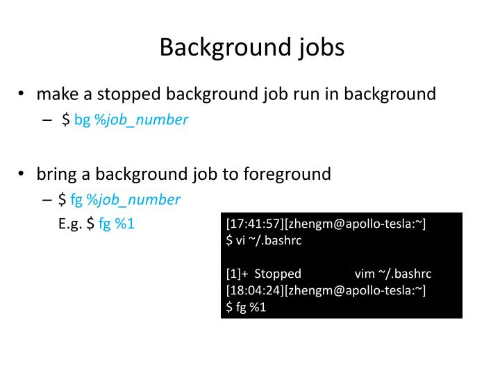 Background jobs