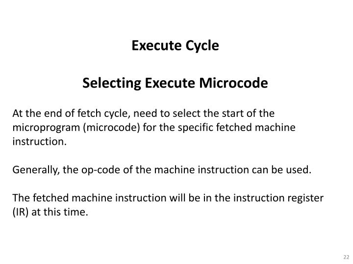 Execute Cycle